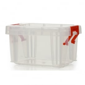 0.2L Extra Small Allstore Plastic Storage Box with Clip on Lid
