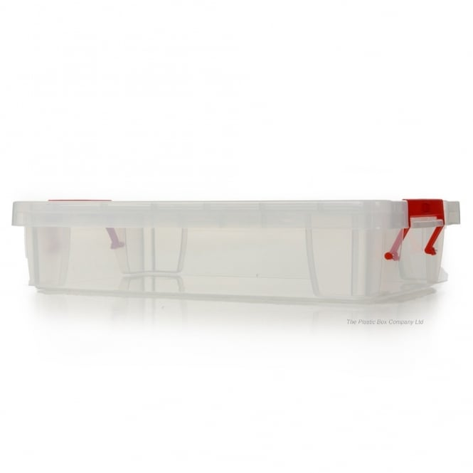0.8L Small Clear Allstore Plastic Storage Box with Clip on Lid