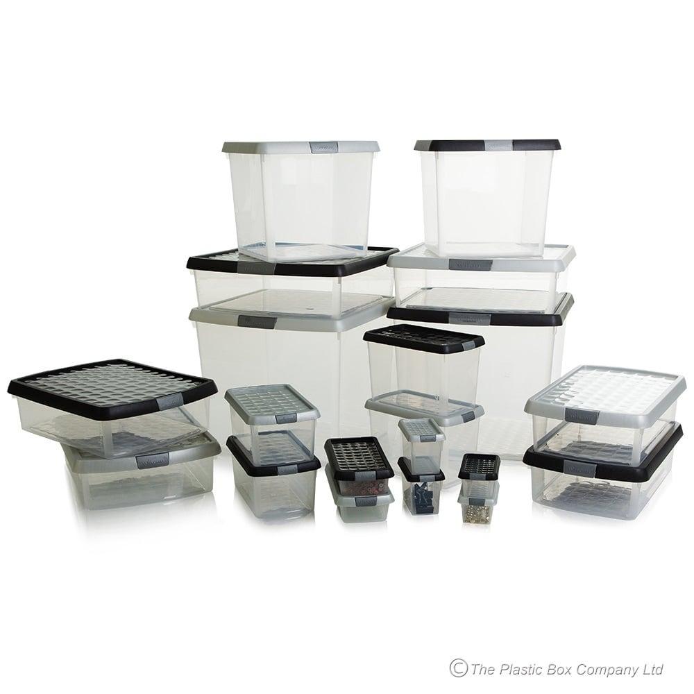 Charmant 1.1 Litre Wham Clip Square Plastic Storage Box With Lid 11.01