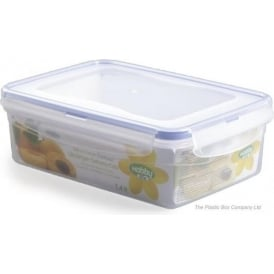 1.4 Litre Rectangular Plastic Food Storage Box With Clip Lid