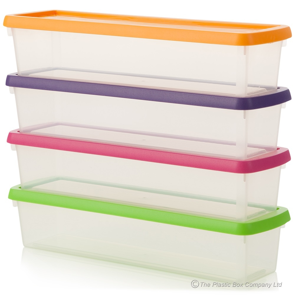Great Buy Small Long Narrow Plastic Storage Box For Pens Rulers Knitting Needles