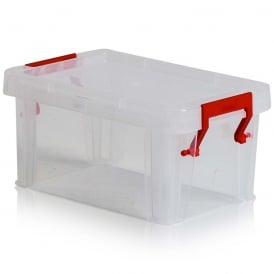 1 Litre Allstore Plastic Box with Red Clip