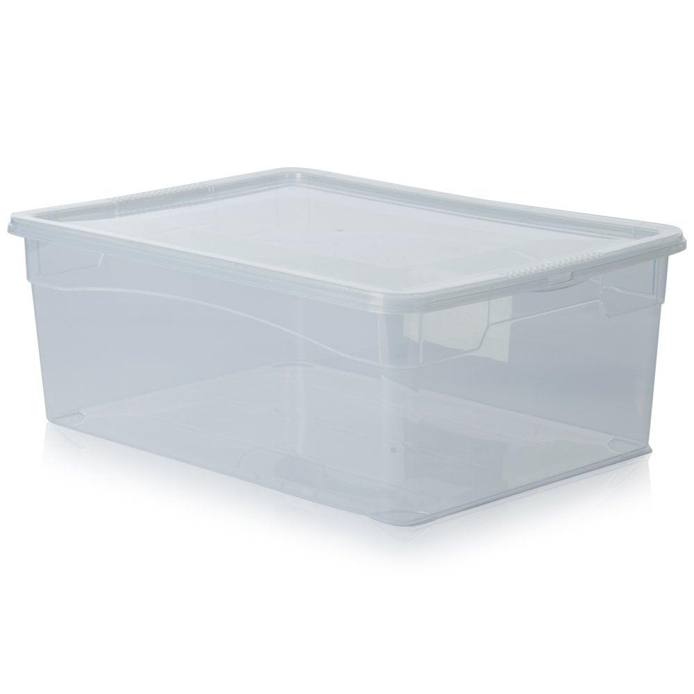 Buy 10 Litre 36cm Plastic Shoe Box With Lid