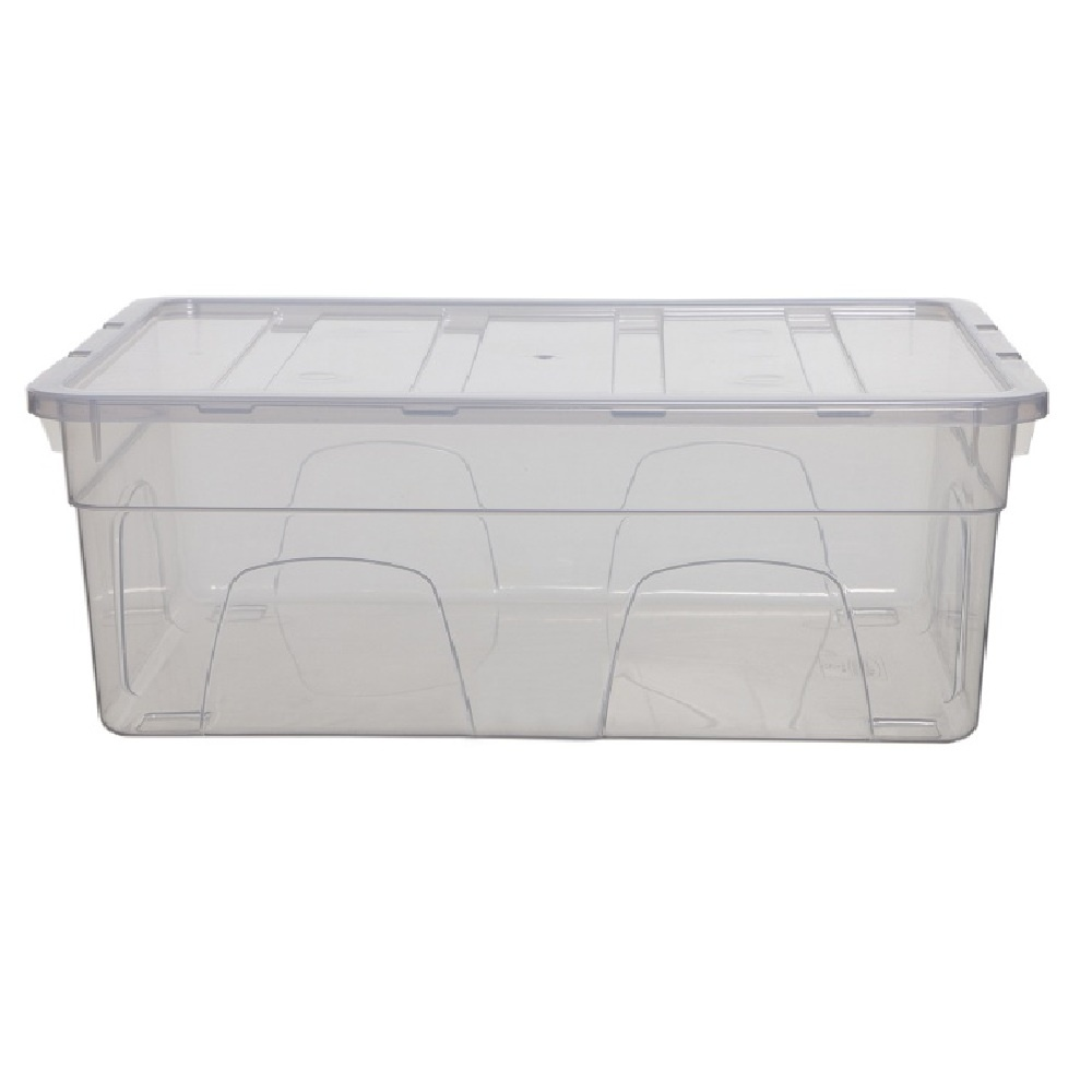 Buy 10lt Spacemaster Whitefurze Shallow Plastic Storage Box with Lid