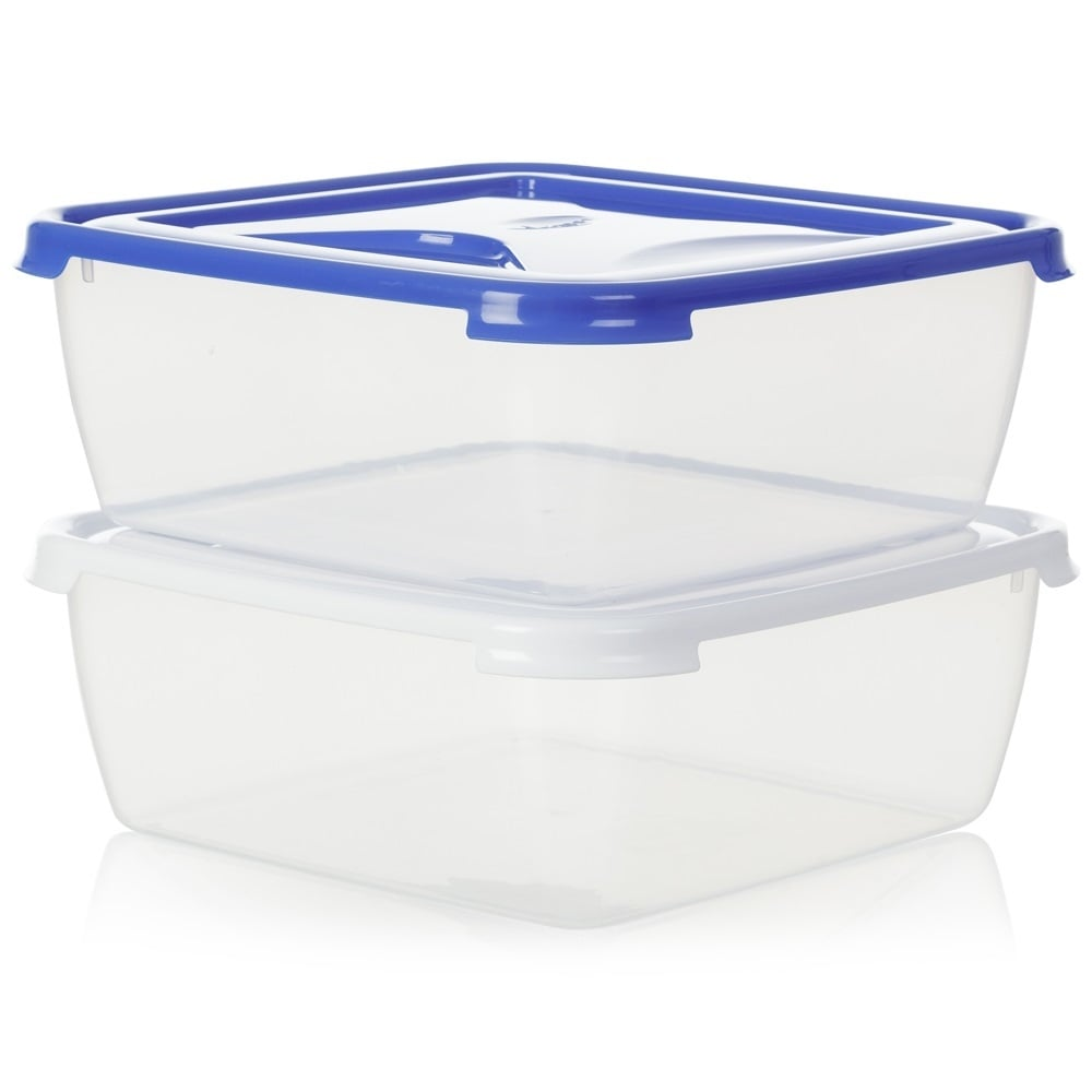 Buy Large Square 10 litre Plastic Food Container for Cakes and Buns