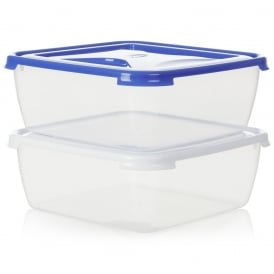 10 litre Square Plastic Cake Box with Lid