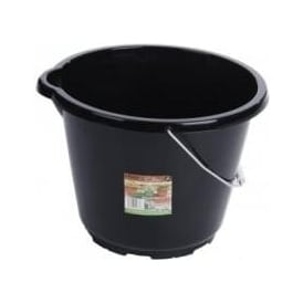 12 Litre Eden Tough Bucket Black with Metal Handle (11735)