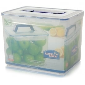 12 Litre Lock & Lock Airtight Storage Box with Carry Handle and Tray