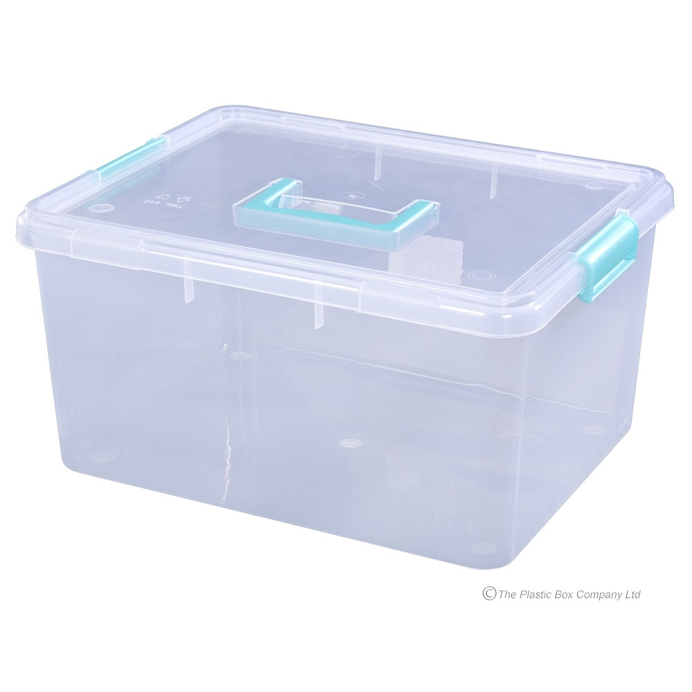 Buy 15lt Storage Box With Clip On Lid And Handle