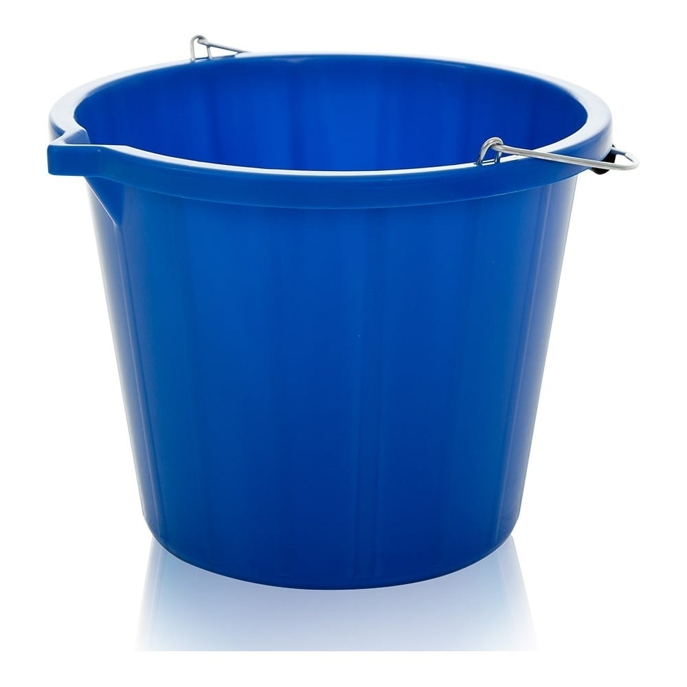 buy strong plastic bucket with metal handle red blue green and yellow