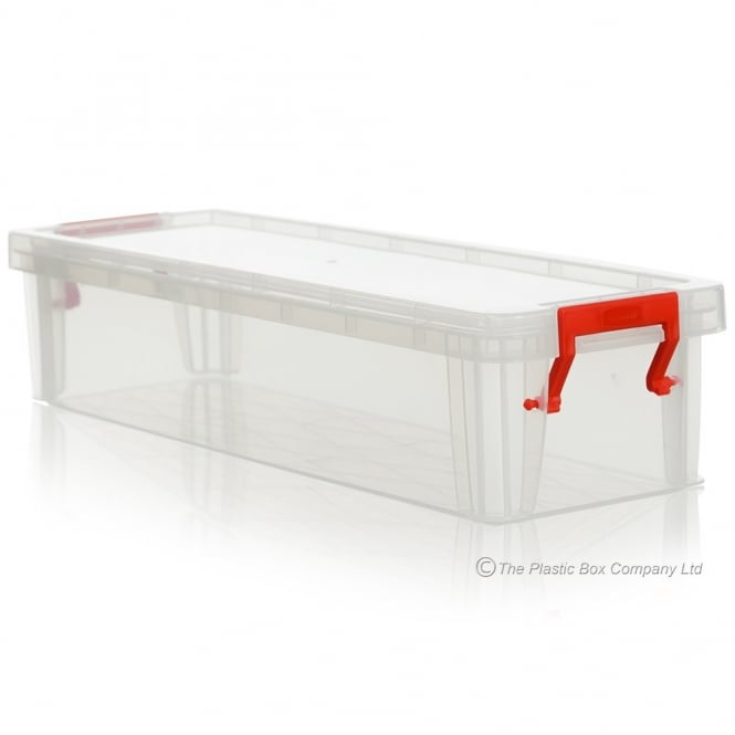2.2 Litre Allstore Plastic Storage Box with Lid / Large Ruler Box