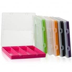 23.5cm (9.02) Square Plastic 8 Compartment Divided Extra Shallow Organiser Box