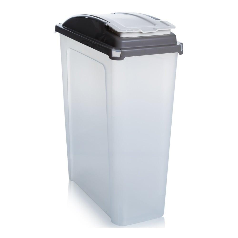 Buy 25lt Slim Plastic Recycling Bin with Lid Slate Base