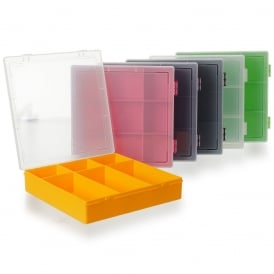29cm (10.03) 6 Compartment Hinged Organiser Box