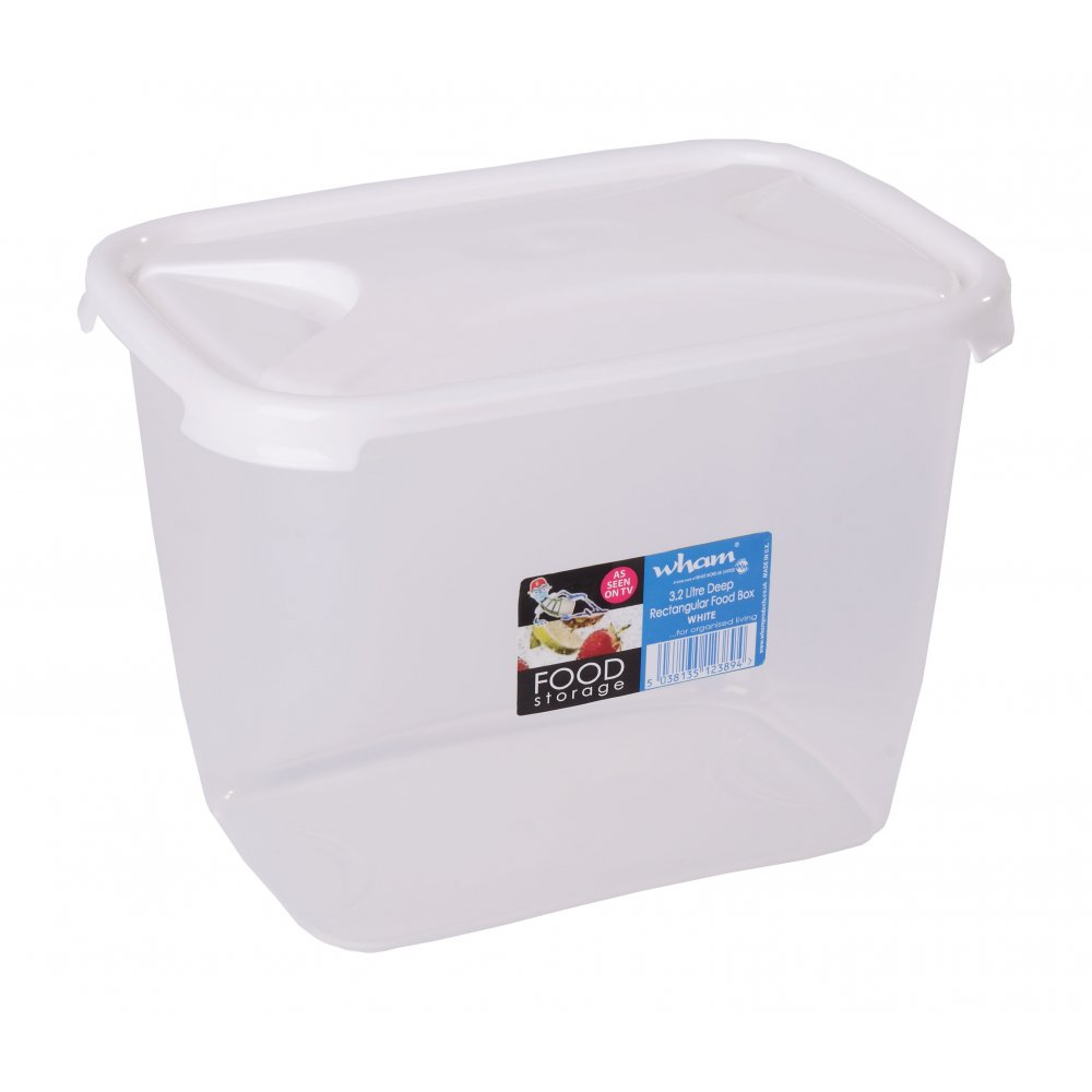 Buy 3 2l Tall Deep Plastic Food Container With Lid