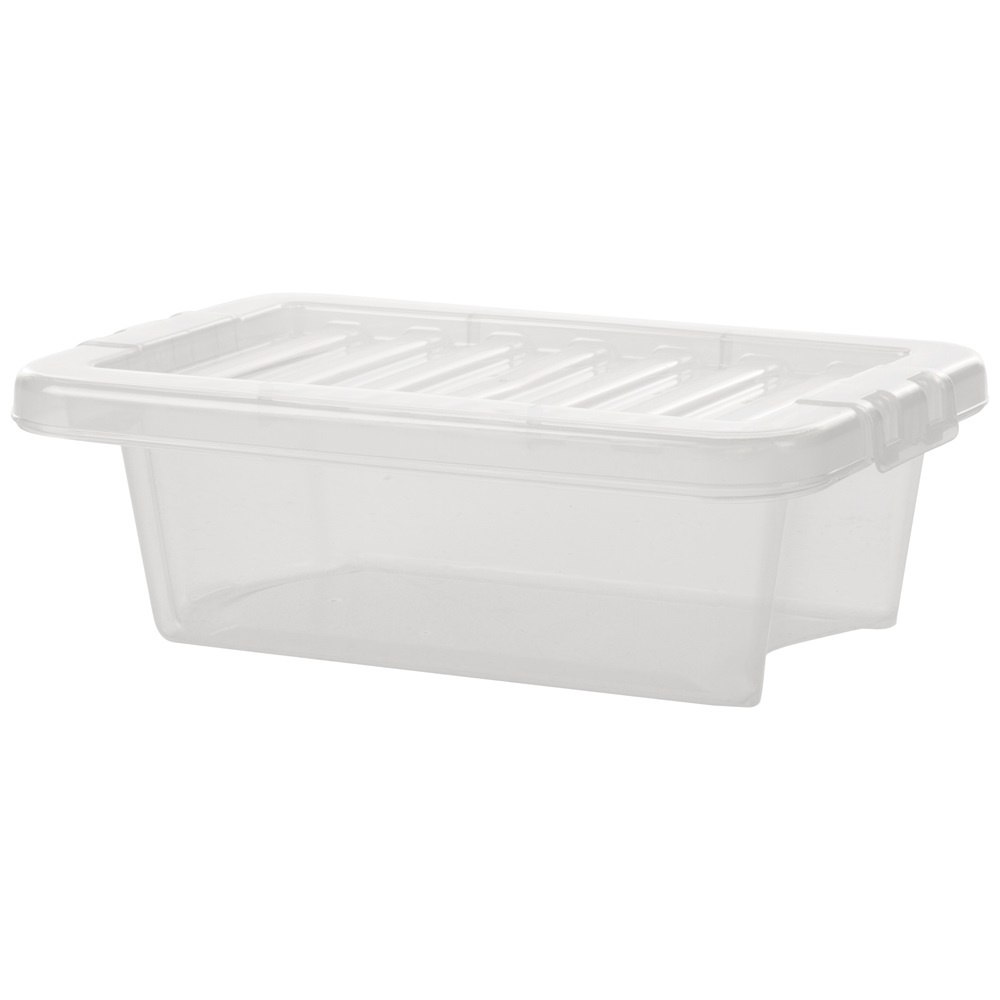 Buy 3 5l wham crystal plastic storage box with lid for Plastic craft boxes with lids