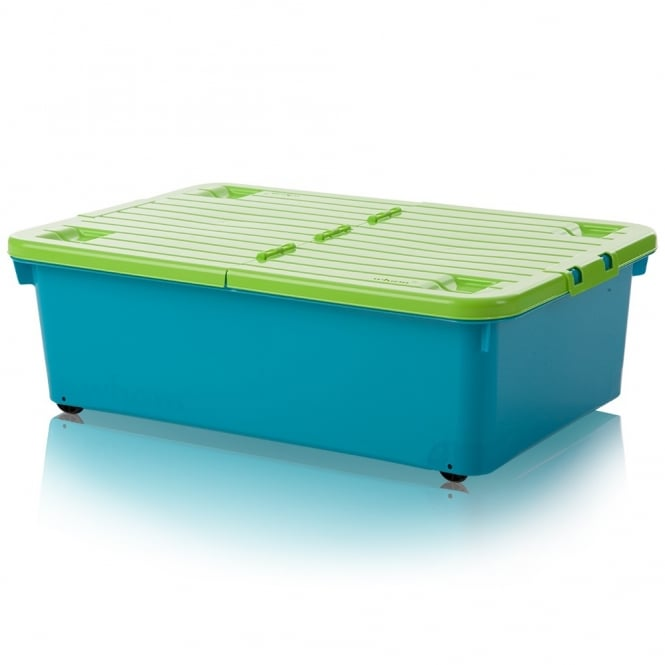 Buy 32 Litre Under Bed Plastic Storage Box With Folding