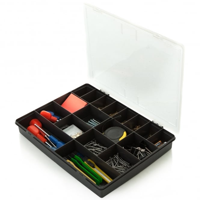 38cm (5.02) Hobby Craft Bits and Bobs 18 Compartment Organiser Plastic Box