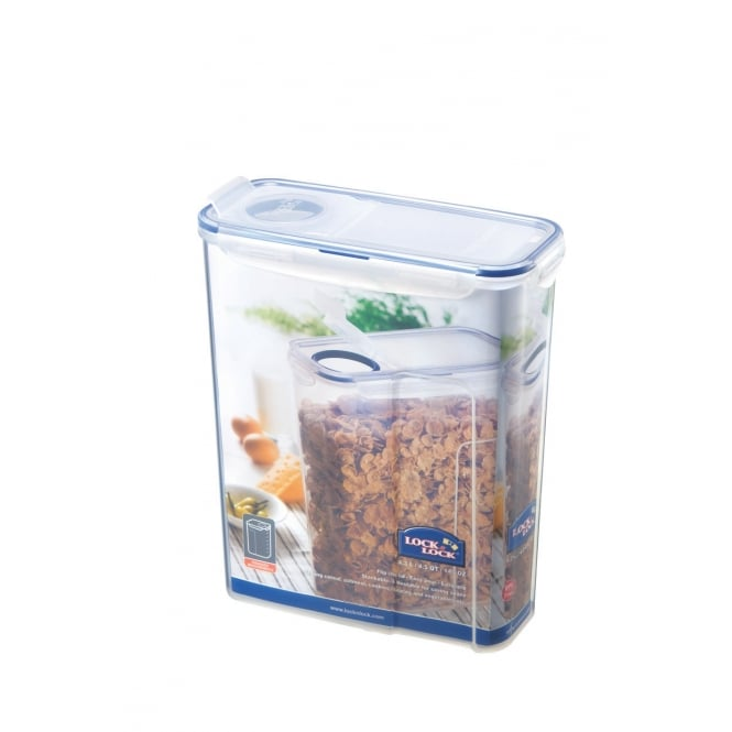 4.3 Litre Rectangular Food Storer with Airtight Flip Top Lid