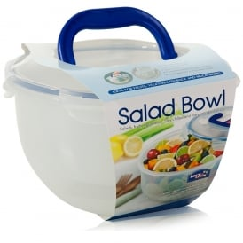 4 Litre Airtight Salad Bowl with Ice Compartment and Handle