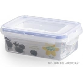400ml Rectangular Plastic Food Storage Box With Clip Lid
