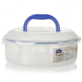 5.5 Litre Round Food Container with Cake Tray and Carrying Handle