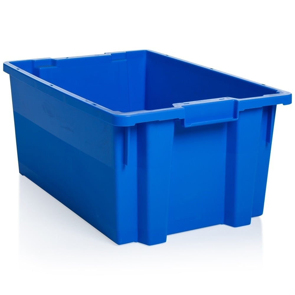 buy 50lt heavy duty storage box with lid in blue
