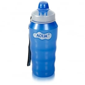 500ml Aqua Plastic Water Bottle Blue with Carry Strap