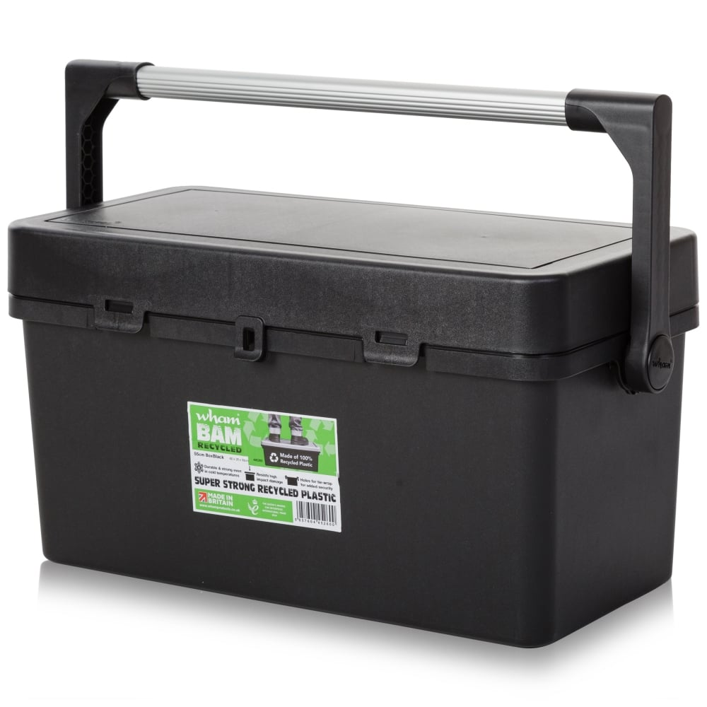 Buy 55cm Plastic Tool Box With Lid Recycled Black