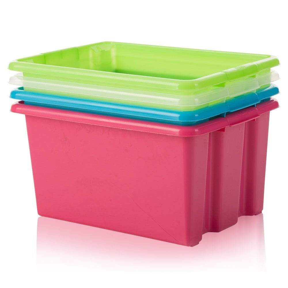 Kids Room Bedroom Storage Chest Unit Box With Lid For Sale: 6l Mini Plastic Stack And Store Box