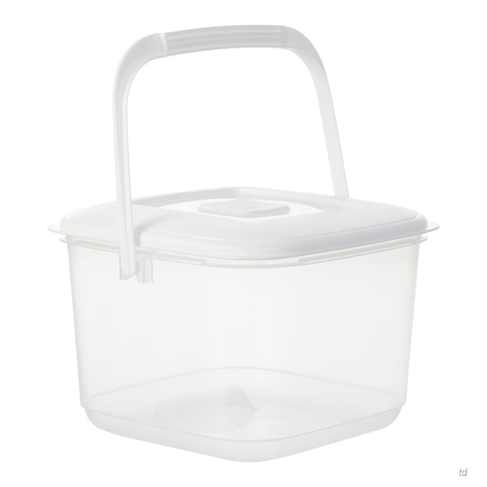 Buy 6lt Whitefurze Plastic Food Canister with Handle and Lid