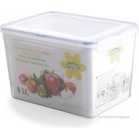 9 Litre Rectangular Plastic Food Box With Clip Lid