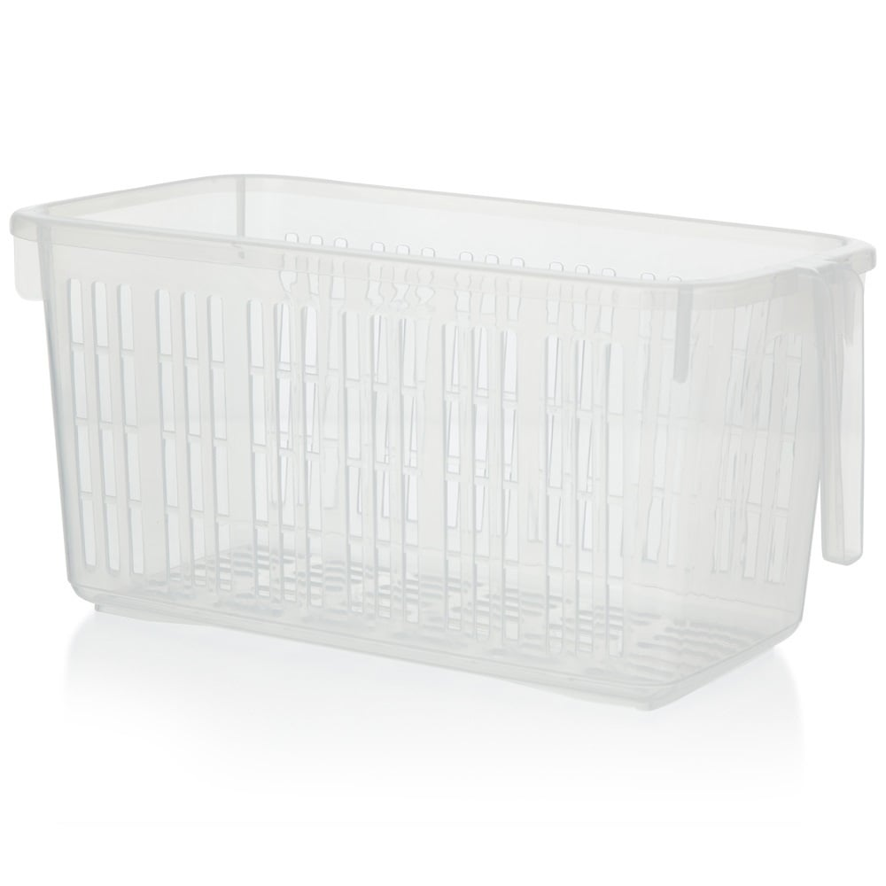 Buy Large Clear Plastic Handy Tidy Basket with Handle