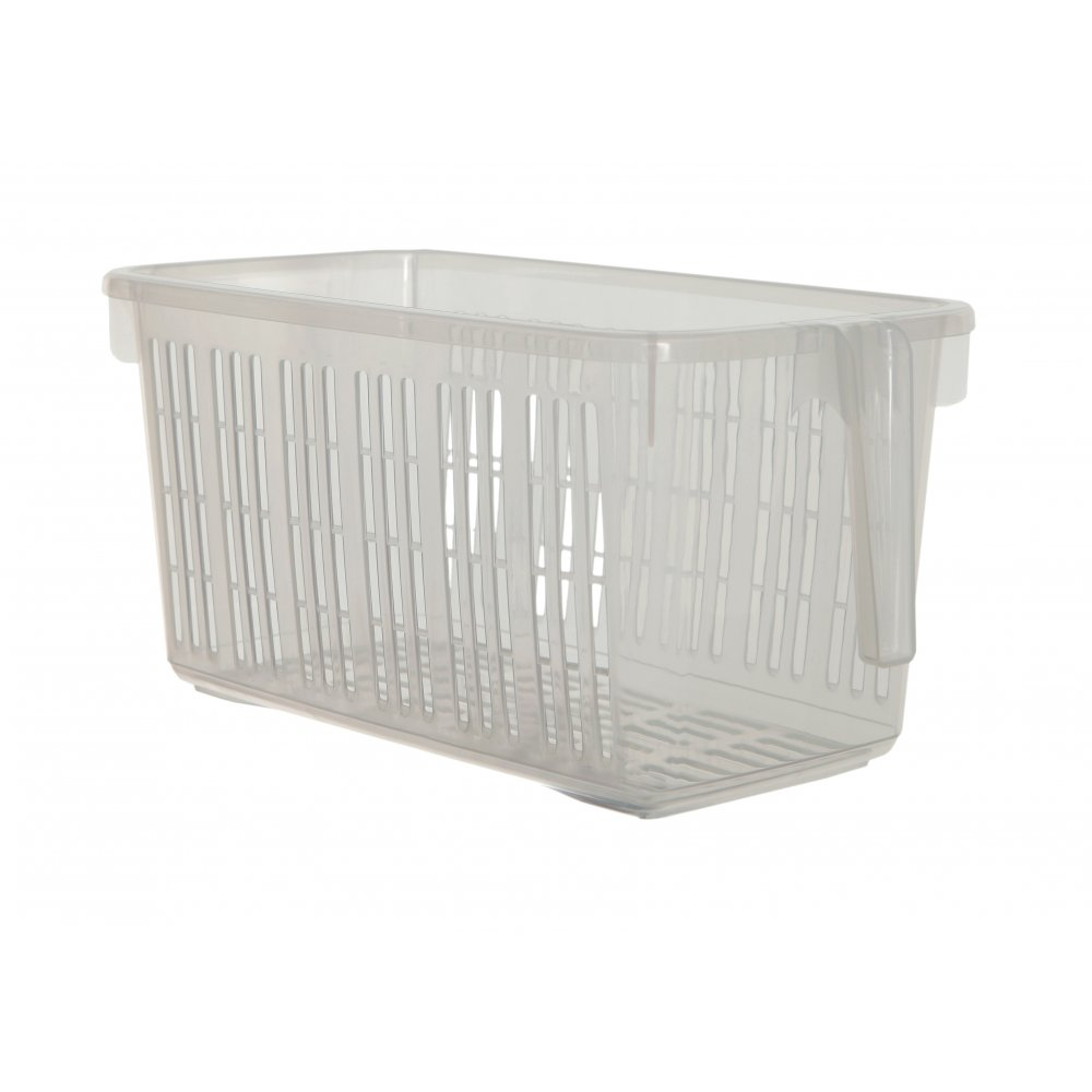 Caddy Basket With Handle Clear   Medium