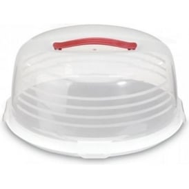 chef@home Large Round Plastic Cake Box with Handle