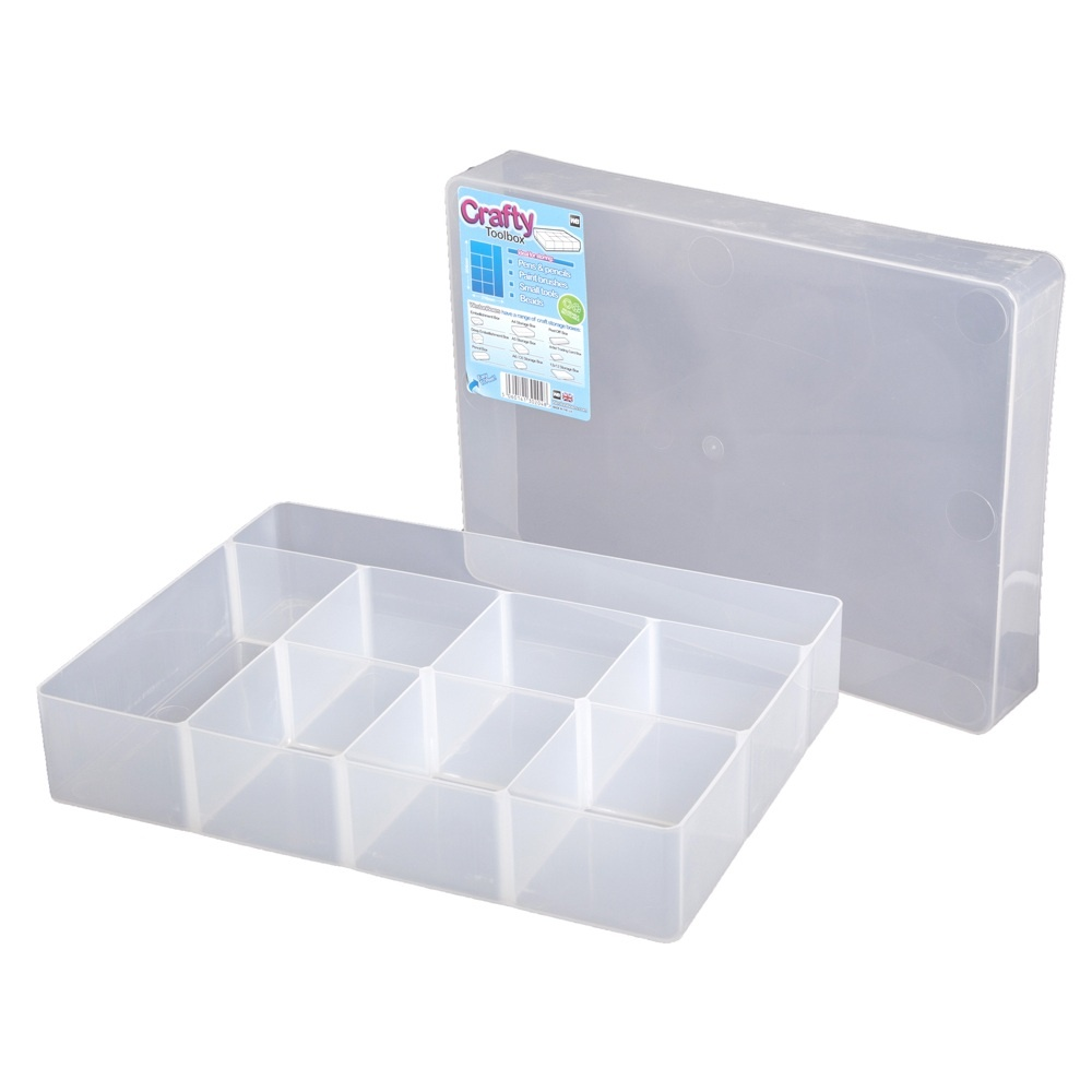 Buy craft compartment plastic organiser box for Craft storage boxes plastic