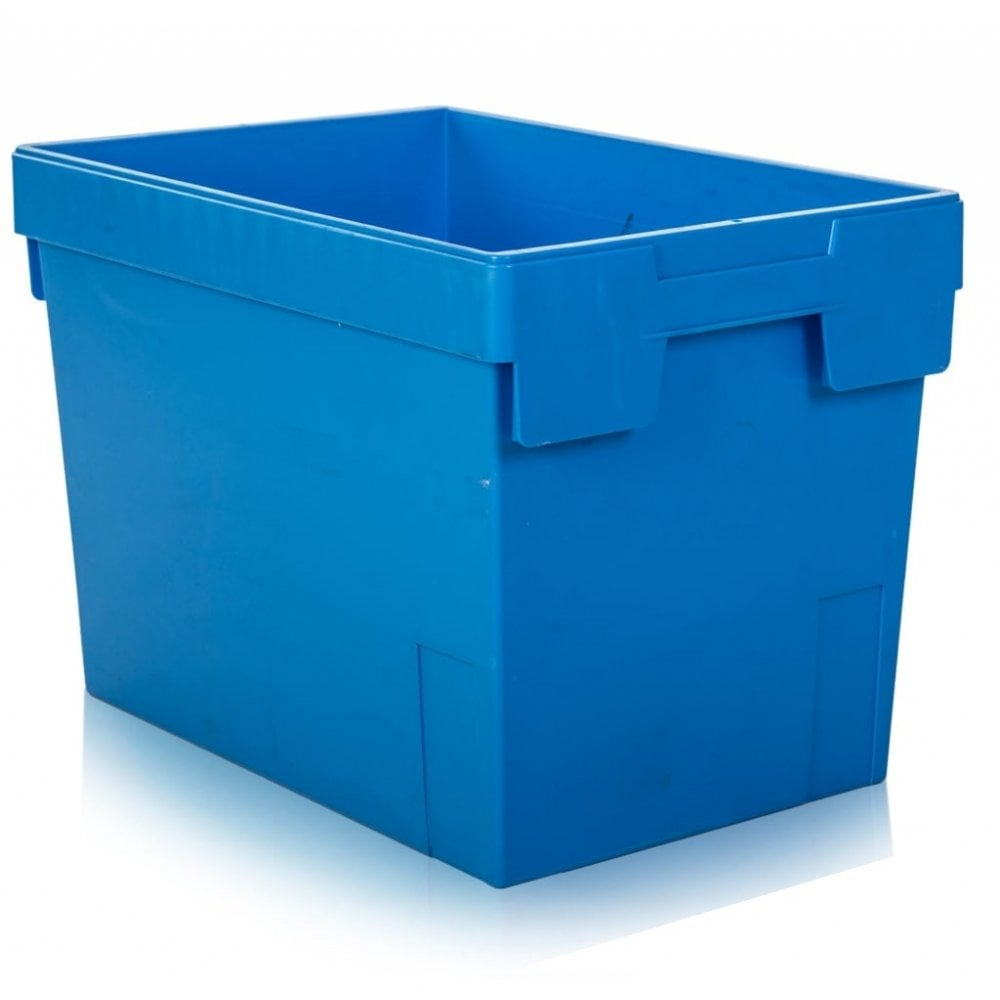 Heavy Duty 80 Litre Tote Boxes Blue No Lid Boxes For
