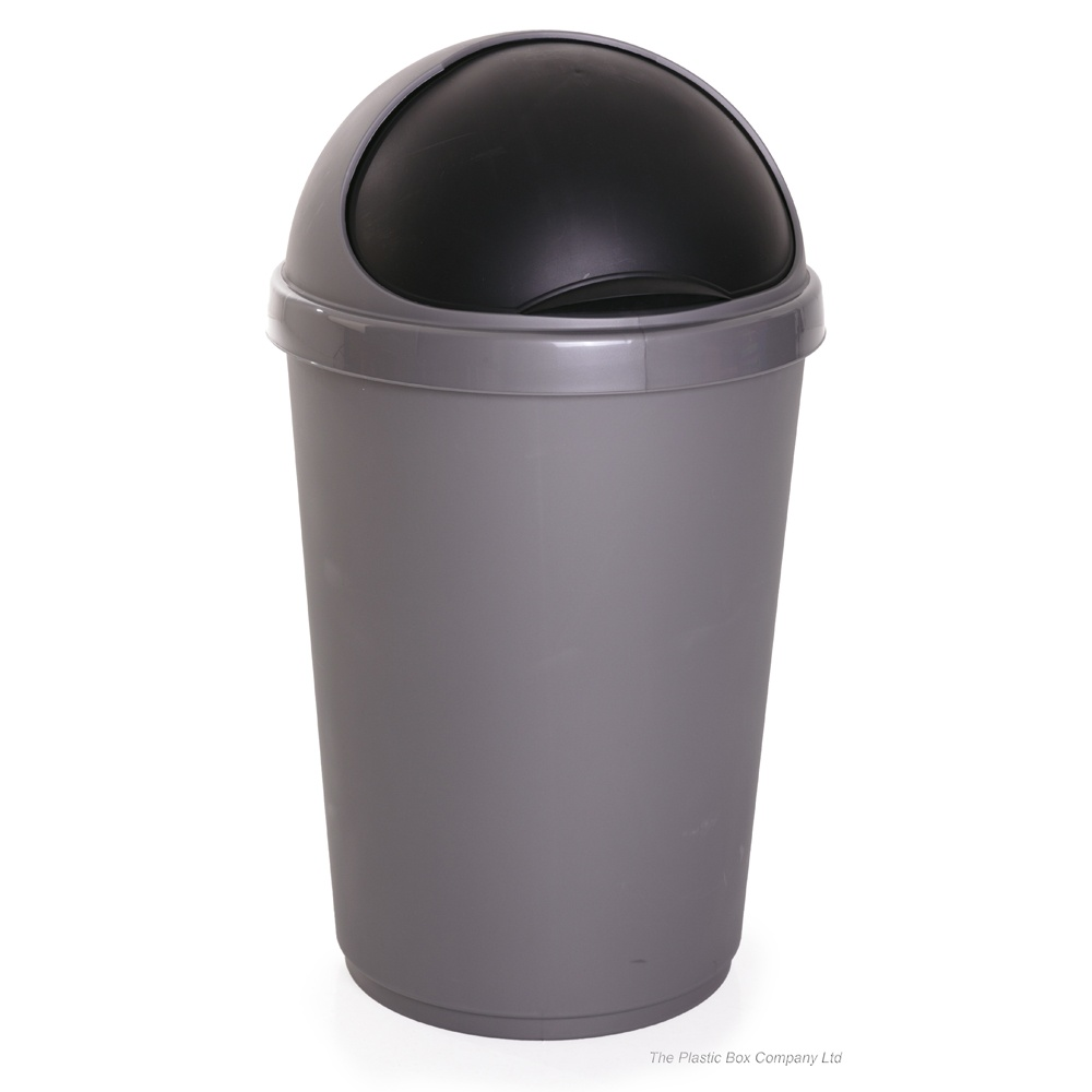 Black Whitefurze 30 litres Bullet Bin and Lid 30 x 20 x 20 cm