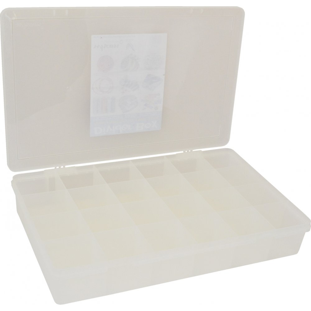 Small Parts Organizer 20-Compartment Removable Dividers Hobby Bins Clear Lid Box