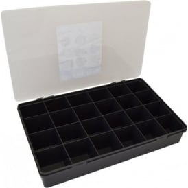 Large Organiser Box 7.01 with 24 Dividers - Graphite/Clear - 13800