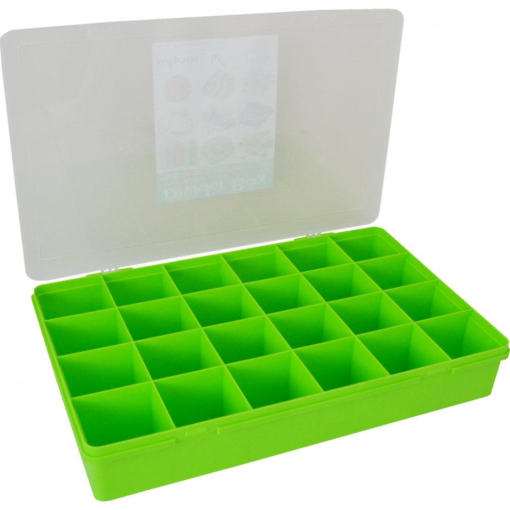 Buy Large Plastic Divider Organiser Box Lime Green Clear
