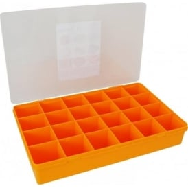 Large Organiser Box 7.01 with 24 Dividers - Sunflower/Clear - 13804