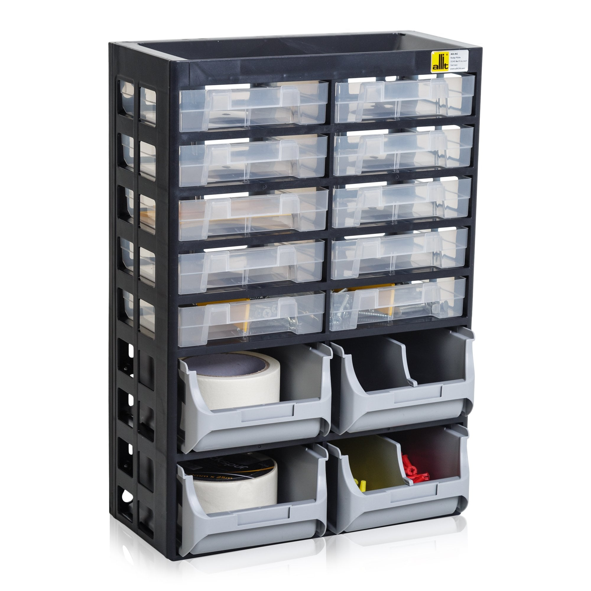 Multi Drawer Basic 21 Cabinet 14 Storage Drawers Boxes For Industry From Plasticboxshop Uk