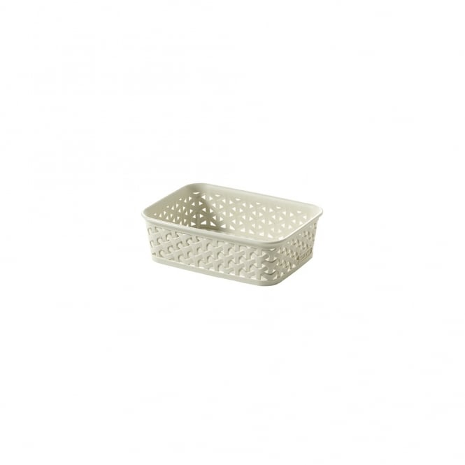 My Style Faux Rattan A6 Sized Storage Basket - Cream