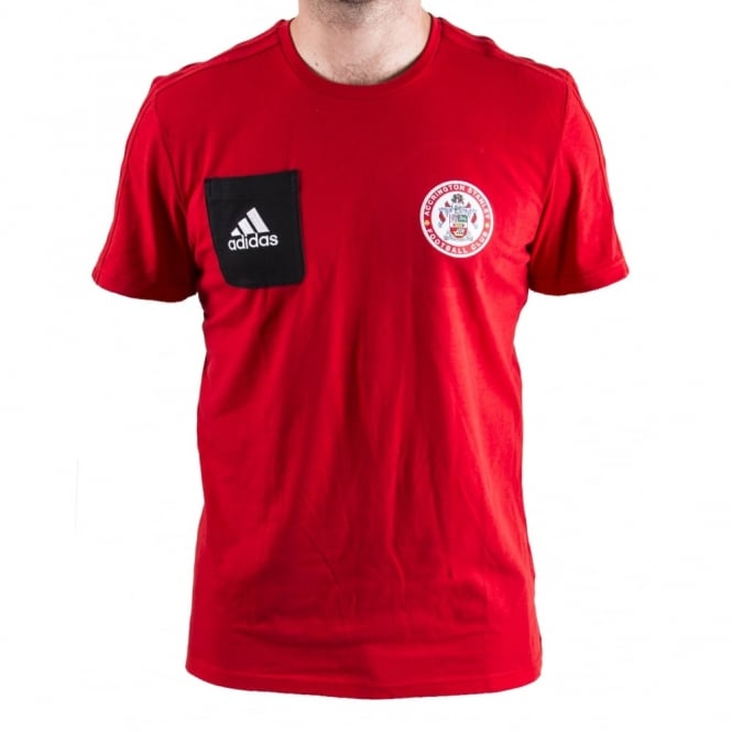 New 17/18 T-Shirt Red with Patch - Adult