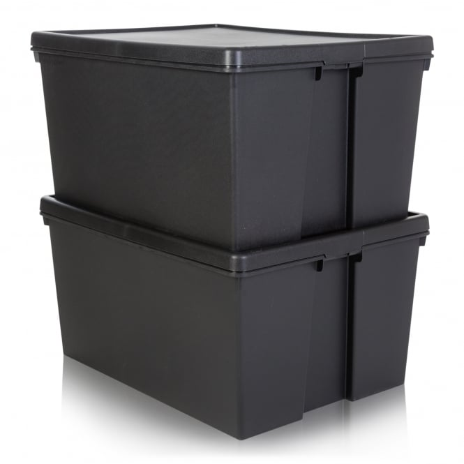 Pack of 2 - 150 Litre Wham Bam Heavy Duty Recycled Box with Lid