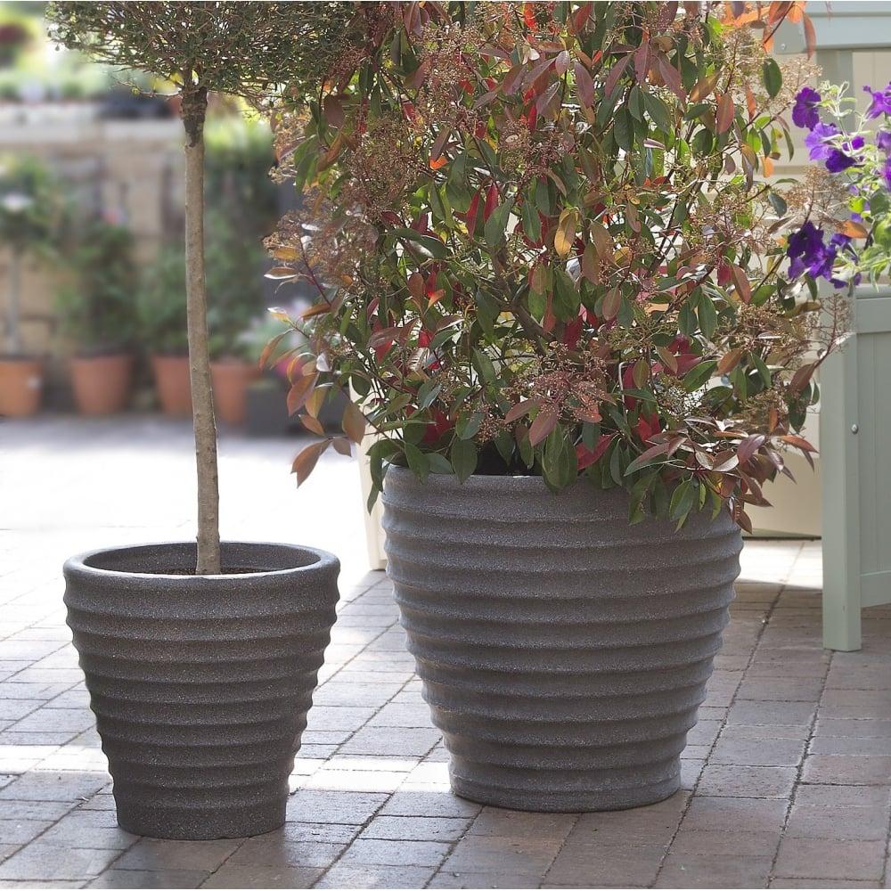 outdoor garden planters. Pack Of 2 - 43cm Moroccan Plastic Garden Planters Outdoor L