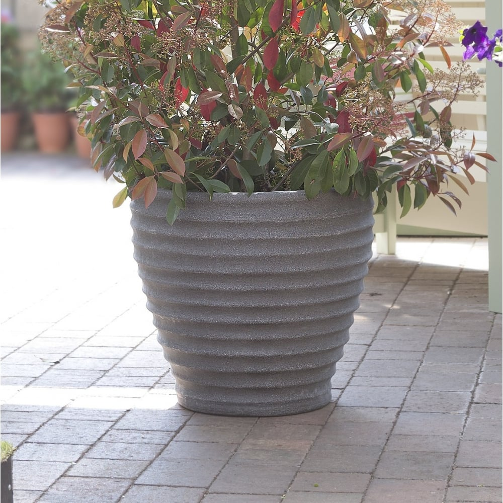 Exceptional Pack Of 2   43cm Moroccan Plastic Garden Planters