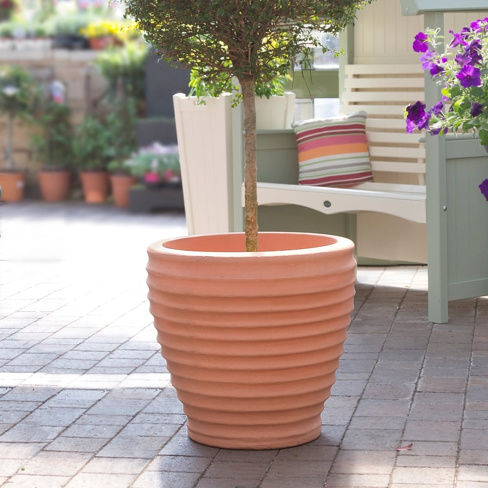Pack Of 2   58cm Moroccan Style Plastic Planters