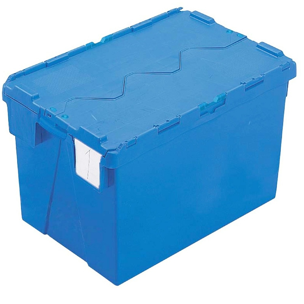 Merveilleux Pack Of 2   65 Litre Heavy Duty ALC Plastic Storage Boxes With Attached Lids